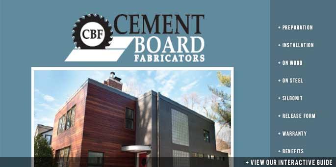 CBF Cement Board Product Guide